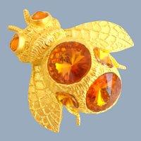 Vintage 1994 DOREEN RYAN Golden Bumblebee Pin