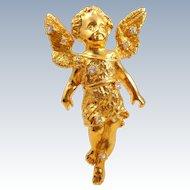 Vintage 1996 R.J. Graziano Cherub Angel Pin Pendant
