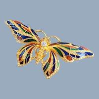 Vintage JBK Camrose & Kross Enamel Butterfly Pin