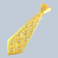 Vintage JJ X-Large Articulated Rhinestone Tie Pin