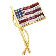 KJL Kenneth Lane American Flag Pin