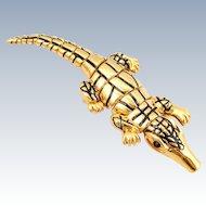 Designer ST JOHN Articulated Alligator Pin