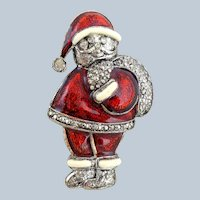 Vintage LIA Jolly Santa Claus Pin