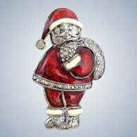 Vintage LIA Jolly Santa Claus Pin