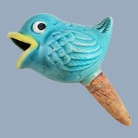 Vintage Ceramic Bird Watering Spike for Plants