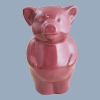 Vintage Kentucky BYBEE Pottery Pig Piggy Bank Burgundy