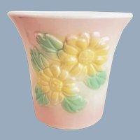 Vintage HULL Pottery Pink Sun Glow Daisy Planter #97