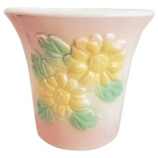 Vintage HULL Pottery Pink Sun Glow Daisy Planter #97