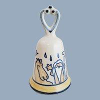 Vintage LOUISVILLE STONEWARE Noah's Ark Bell Kentucky Pottery