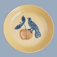 Vintage PFALTZGRAFF Pottery America Bird & Apple Pie Plate MAFA #576