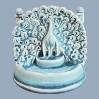 Vintage 1929 ROOKWOOD Pottery Peacock Single Bookend #2445