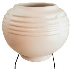 Early ROSEVILLE Pottery Art Deco White Ivory Planter