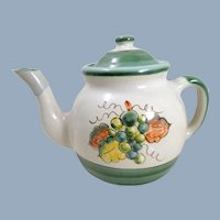 LOUISVILLE STONEWARE Teapot Grapes and Leaves Pattern