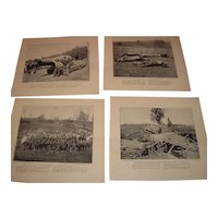 18 pieces of Civil War prints depicting life during the times. Artillery, Cavalry and Infantry divisions.