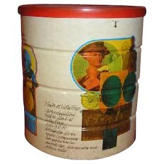 Vintage BUTTERNUT coffee tin. three pound size. American Independence