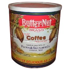 Original BUTTERNUT coffee tin.  Near mint + condition