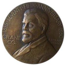 1855 - 1930 Seventy Fifth Anniversary CRANE CO. R. T. Crane Chicago July Fourth