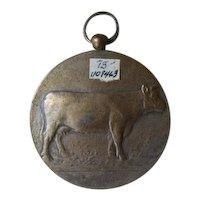 Nickel over brass KALLOO Jaarmarkt medal.  25 MAART 1940