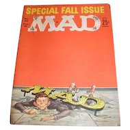 Three MAD magazines. December 1961 No. 67, April 1962 No. 70 and September 1964 No. 89