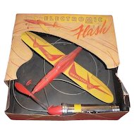 Vintage Electromic Flash Battery Operated Toy Plane with original box