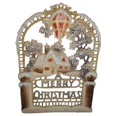 Die cut calendar top. Made in GERMANY Merry Christmas embossed.