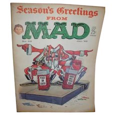 January 1962 no. 68 MAD magazine Season's Greetings cover artist O. Martin 48 pages