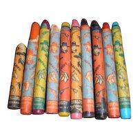 9-1/2 Hopalong Cassidy western vintage crayons