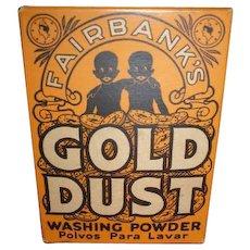 Vintage Black Americana Advertising Fairbanks Gold Dust Washing Powder  5 oz ounce box NIB new old stock