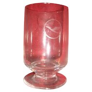 Pair of vintage airlines aviation memorabilia collectibles glass glasses.  KLM and Lufthansa