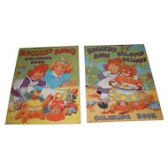 A pair of vintage 1945 Raggedy Ann's and Raggedy Ann and Beloved Belindy coloring books