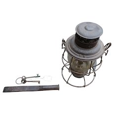 St. Joseph and Grand Island RY ST J & GI railroad lantern, brass keys, chisel sleeper or conductor