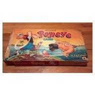 Vintage 1957  Adventures of Popeye board or table game. Olive Oyl, Bluto, Hygmy Pygmy, Cap'n Snook, Mad Prof Watasnozzle. No. 3831-198