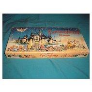 Vintage original 1956 edition of Walt Disney Production's FANTASYLAND children's board game in box.