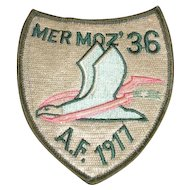 MERMOZ' 36 A.F. 1917 shield military embroidered patch
