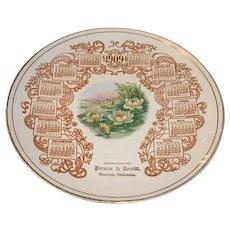1909 Person & Dewitt Stanton Nebraska calendar plate