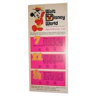 Walt Disney World ticket book brochure 1972