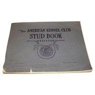 1956 American Kennel Club STUD BOOK.
