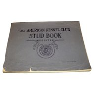 1956 American Kennel Club STUD BOOK.