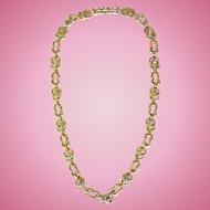 Vintage David Webb 18k Yellow Gold Diamond Necklace
