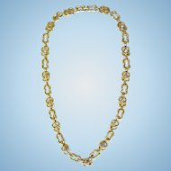 Vintage David Webb 18k Yellow Gold Diamond Necklace