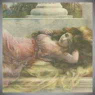 English Art Nouveau  Artist Postcard 'Midsummer Reverie'.