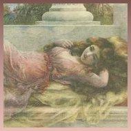 English Art Nouveau  Artist Postcard 'Midsummer Reverie'.
