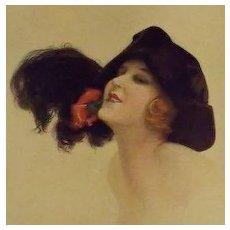 SALE: Art Deco Color Magazine Illustration 'Provocation' by Leo Fontan 1922.