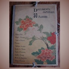 Compendium of 50 Signed Japanese Prints Documents Japonais c1900