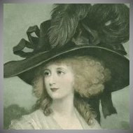 Trio of English Regency Fashion 'Ladies in a Fine Hat' Postcards