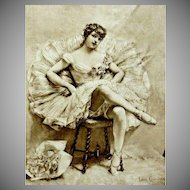Signed Victorian Original French Ballet Etching 'A Star'  1882