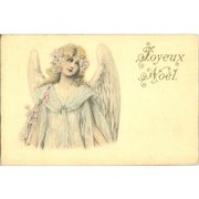 SALE: Antique French Christmas Angel Postcard c1900