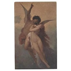 SALE: Antique Italian Cupid and Psyche Postcard Museum Issue c1900