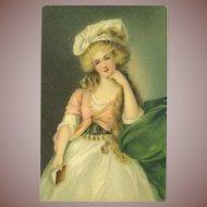 SALE: Antique English Artist Maiden Chromo Postcard 1908