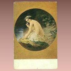SALE: Fine Art Czech Postcard c1930